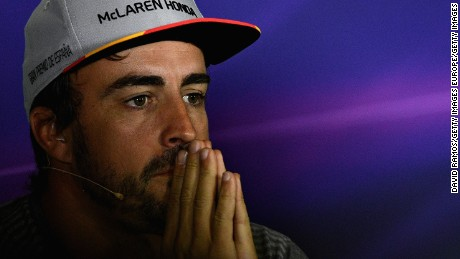 MONTMELO, SPAIN - MAY 11:  Fernando Alonso of Spain and McLaren Honda in the Drivers Press Conference during previews for the Spanish Formula One Grand Prix at Circuit de Catalunya on May 11, 2017 in Montmelo, Spain.  (Photo by David Ramos/Getty Images)