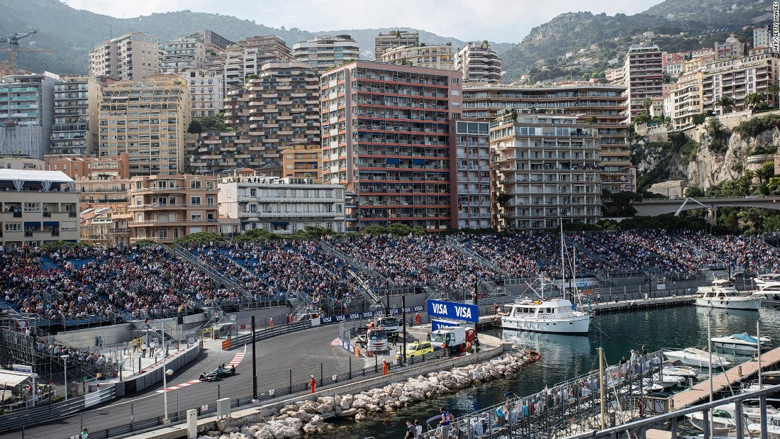 The ePrix took place in front of packed grandstands with drivers racing on a shortened version of the famous Monaco Grand Prix track.