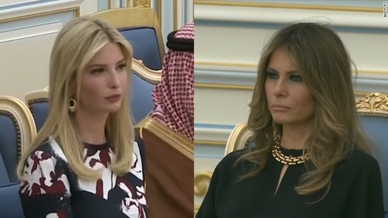 JUST WATCHED. Melania, Ivanka Trump forgo headscarves