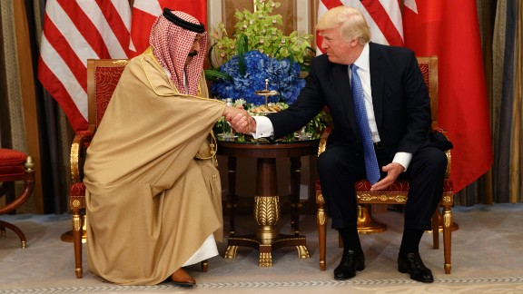While in Riyadh, President Trump meets with Bahrain