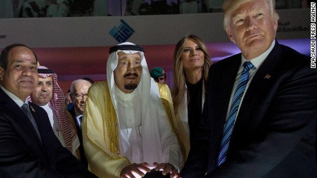 Trump touches orb in Saudi, lights up internet