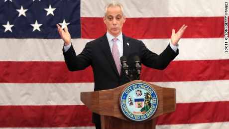 Chicago Mayor Rahm Emanuel speaks at a naturalization ceremony on May 5, 2017 in Chicago, Illinois.