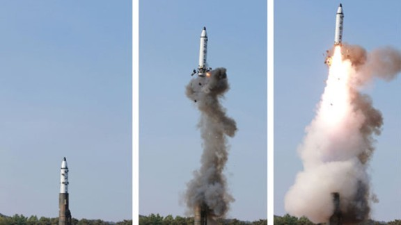The Pukguksong-2 is a land-based version of North Korea's main submarine-launched missile.