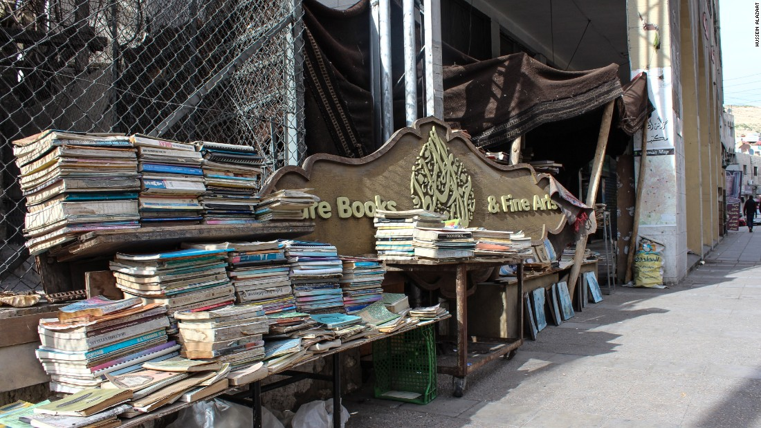 At AlMaaytah's shop, the bulk of his stock is laid out on the sidewalk. Other tomes are sheltered by a Bedouin tent, while an extremely cosy indoor area houses the rest of the books.