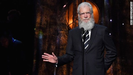 David Letterman speaks onstage at the 32nd Annual Rock & Roll Hall Of Fame Induction Ceremony on April 7, 2017, in New York City.