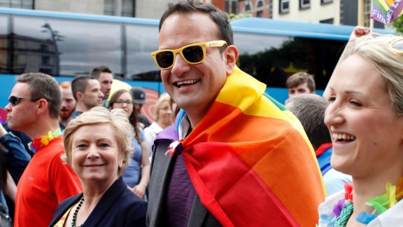 Leo Varadkar, then Minister for Health, at the Dublin Gay pride parade in 2015.