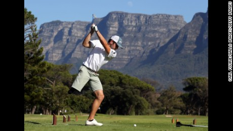 CAPE TOWN, SOUTH AFRICA - MAY 16: (EDITORIAL USE ONLY) Juan Postigo during day 2 of the Canon South African Disabled Golf Open at the Mowbray King David Golf Club on May 16, 2017 in Cape Town, South Africa.  (Photo by Carl Fourie/Gallo Images/Getty Images)