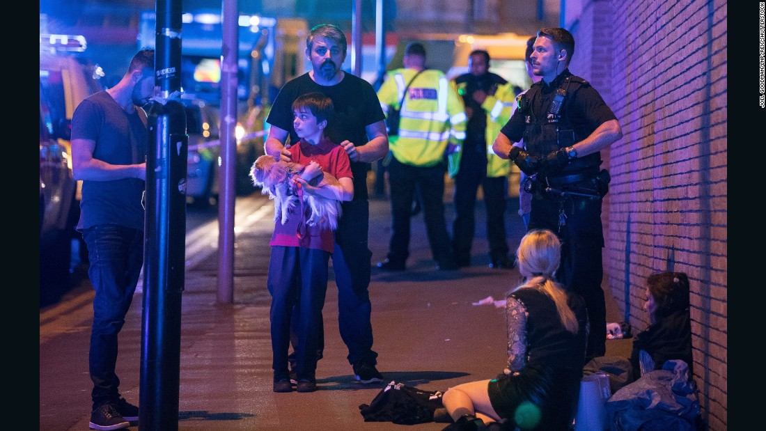 "Greater Manchester Police tweeted that emergency services were ""responding to (a) serious incident at Manchester Arena. Avoid the area. More details will follow as soon as available."""