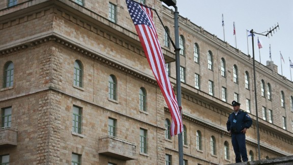 An Israeli policeman stands guard in front of the King David Hotel in downtown Jerusalem minutes after the arrival to the site of US President George W. Bush, 09 January 2008. Bush landed in Israel today on the first visit of his presidency aimed at bolstering recently-revived peace talks AFP PHOTO/MARIANA VASCONCELLOS (Photo credit should read MARIANA VASCONCELLOS/AFP/Getty Images)