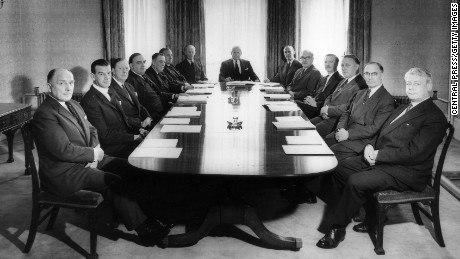 7th June 1960:  The Board of Directors of Fisons Ltd, manufacturers of fertilizers, attend a meeting in the company's boardroom.  (Photo by Central Press/Getty Images)