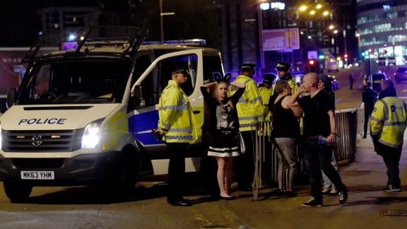 Mandatory Credit: Photo by MCPIX/REX/Shutterstock (8828094h)The scene outside the Manchester Arena where serious incident has taken place.Explosion at Manchester Arena, UK - 22 May 2017
