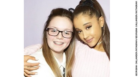 Fan Georgina Callander (left) had met the pop star Ariana Grande in 2015.