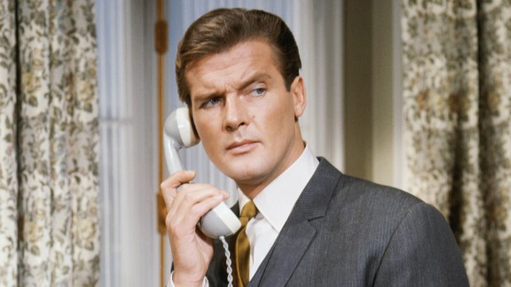 """Moore appears in an episode of the British TV series """"The Saint"""" circa 1963. He starred as Simon Templar from 1962 to 1969."""