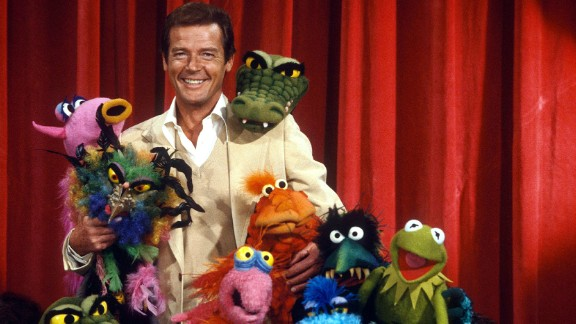 """Moore and friends on the set of """"The Muppet Show"""" in 1980."""