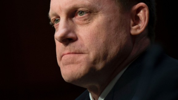 National Security Agency Director Adm. Mike Rogers testifies before the Senate Intelligence Committee on Capitol Hill in Washington, DC, May 11, 2017. / AFP PHOTO / JIM WATSON