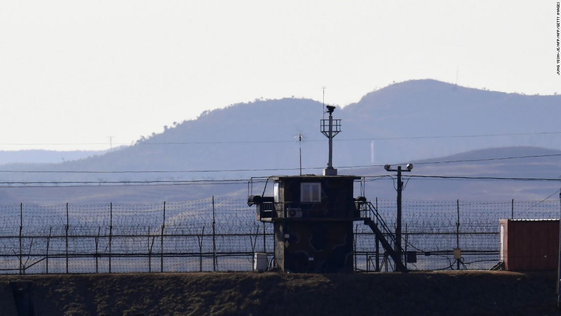 Gunfire exchanged in DMZ across border between North and South Korea