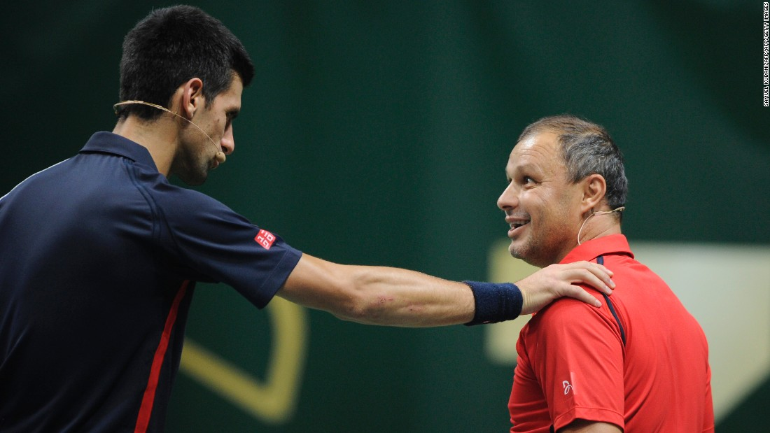 "Former Czechoslovakia tennis player Marián Vajda coached Djokovic for over a decade, guiding his charge to 12 grand slam titles. The two parted ways in May 2017 as Djokovic sought ""shock therapy"" and a fresh direction ahead of the French Open."