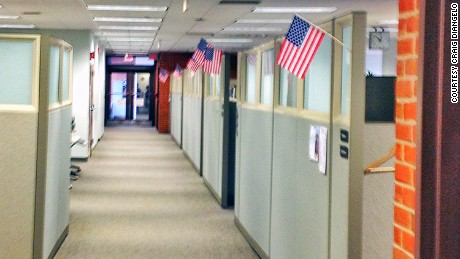 Northeast Utilities employees put up US flags in cubicles after realizing they would lose their jobs to H-1B workers.