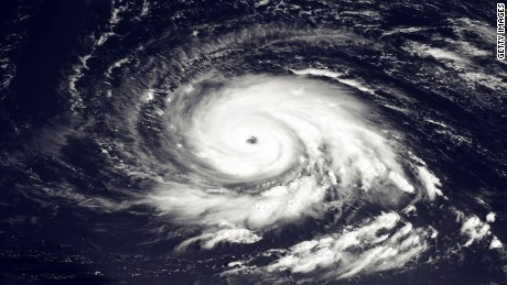 Hurricane Igor churns east of the northern Leeward Islands in September 2010.