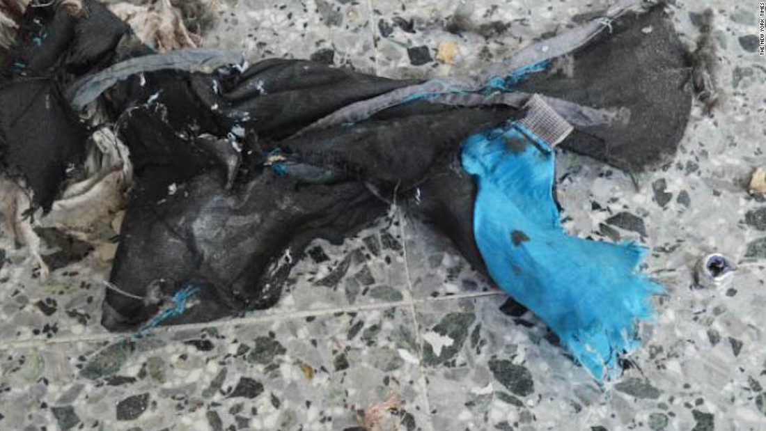 "Images first posted by<a href=""https://www.nytimes.com/interactive/2017/05/24/world/europe/manchester-arena-bomb-materials-photos.html"" target=""_blank""> The New York Times</a> show what remains of a backpack reportedly used to carry the bomb used in a suspected suicide attack at the Ariana Grande concert in Manchester on  Monday, May 22."