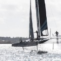 SoftBank Team Japan America's Cup black and white