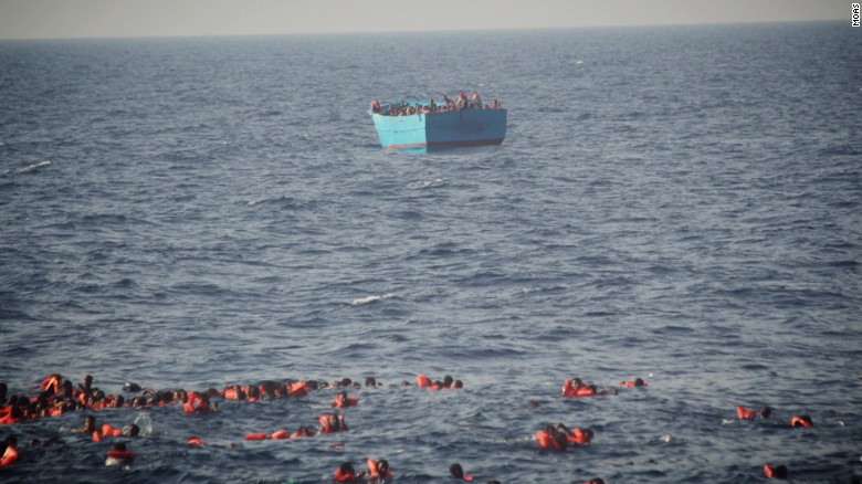 Massive rescue effort in the Mediterranean