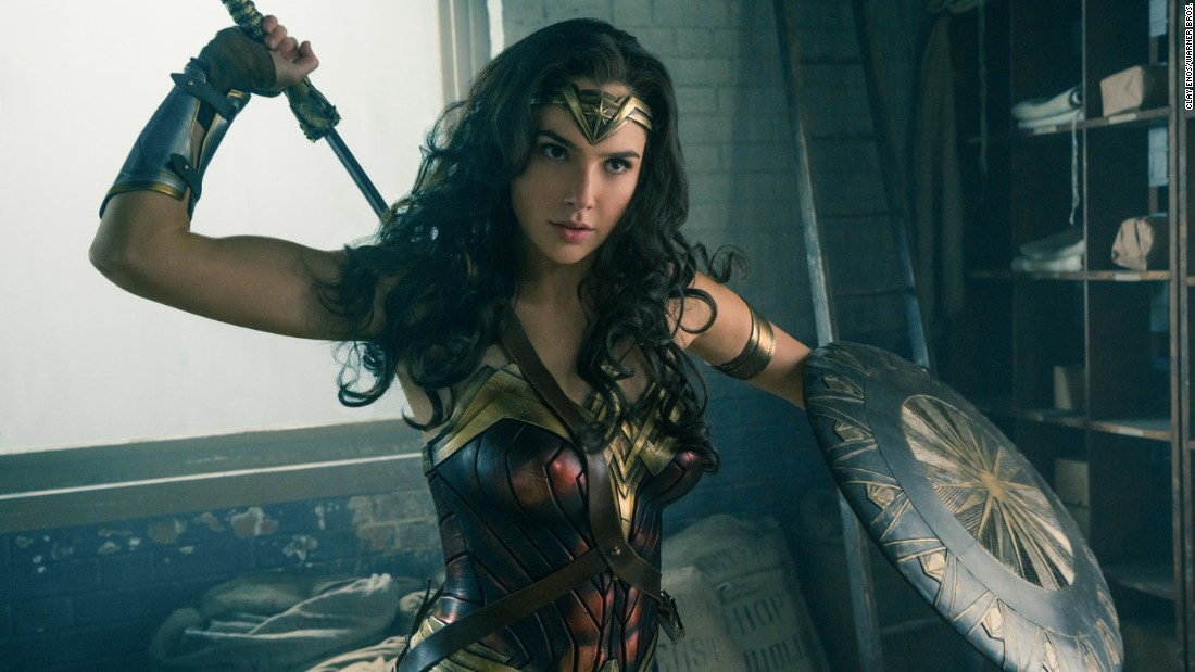 "Gal Gadot's Wonder Woman first made an appearance in the 2016 film ""Batman v Superman: Dawn of Justice."" Her 2017 solo movie broke a box-office record for most money made by a film directed by a woman on its opening weekend."