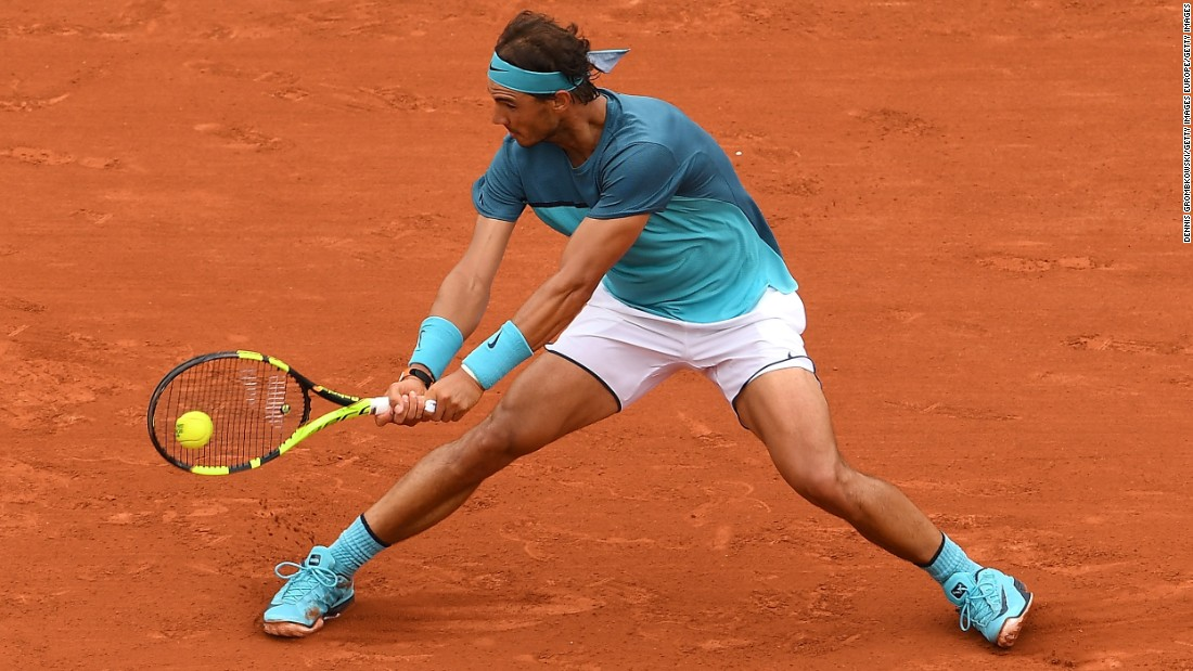 The following year, the shorts got even shorter and the two-tone top returned as Nadal exited the French Open in the third round -- although this time it was a wrist injury that defeated him. Despite the disappointment, there was another milestone for Nadal as he became only the eighth man to reach 200 grand slam wins.