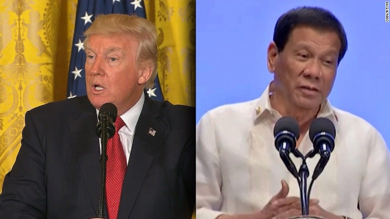 Trump shows solidarity with Duterte