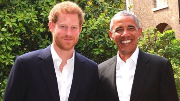 Britain's Prince Harry met with former US President Barack Obama Saturday, May 27, at Kensington Palace, according to a press release from Kensington Palace. The two men discussed the Manchester attack, support for veterans, mental health, conservation, empowering young people and the work of their respective foundations, according to the statement.