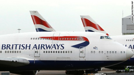 "British Airways said Saturday it was ""experiencing a global system outage."""