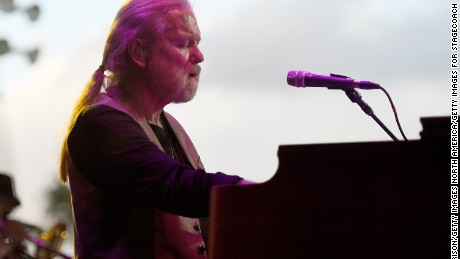 INDIO, CA - APRIL 25:  Musician Gregg Allman performs onstage during day two of 2015 Stagecoach, California's Country Music Festival, at The Empire Polo Club on April 25, 2015 in Indio, California.  (Photo by Frazer Harrison/Getty Images for Stagecoach)