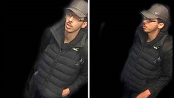 Police have released CCTV images of Abedi from the night of the attack.