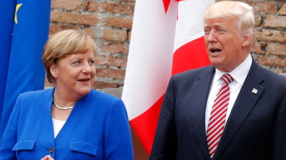 Merkel speaks to Trump on Friday in Sicily.