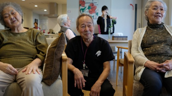 Keichi Tasaka, 70, has been working at Cross Hearts in Yokohama, Japan, for the past five years.
