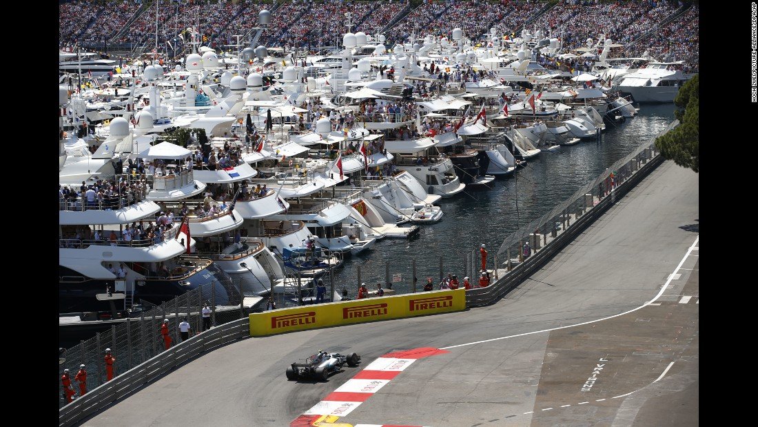 "People watch <a href=""http://www.cnn.com/2017/05/28/motorsport/sebastian-vettel-ferrari-monaco-grand-prix/index.html"" target=""_blank"">the Monaco Grand Prix</a> from boats on Sunday, May 28."