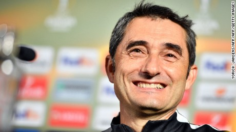 Ernesto Valverde pictured during his time as Athletic Bilbao manager.