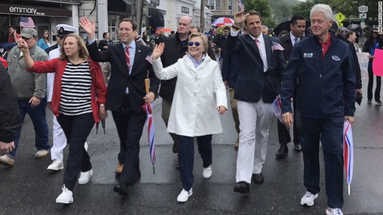 Here's how the Clintons spent Memorial Day