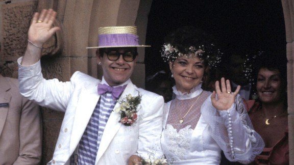 """John married German recording engineer Renate Blauel in 1984. They divorced in 1988. and John told Rolling Stone magazine that year he was """"comfortable"""" being gay. He told the magazine in 1976 that he was bisexual."""