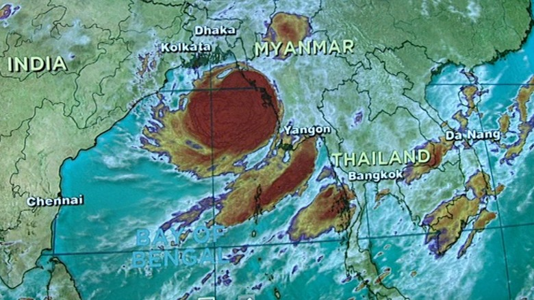 Areas of Bangladesh under threat as cyclone hits