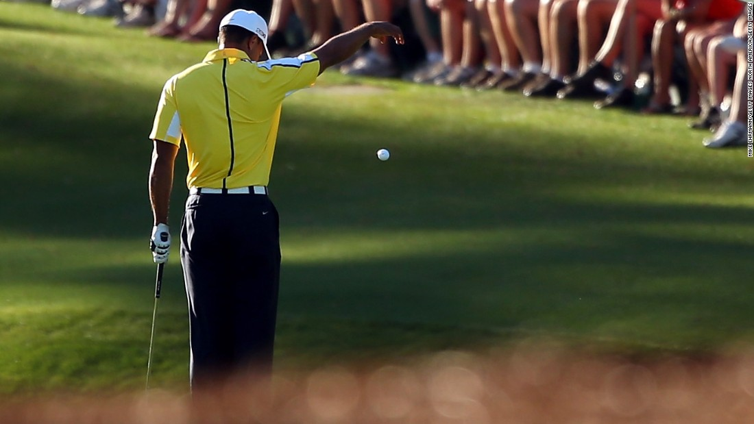 In 2013 Woods found himself in hot water after a TV viewer called in to highlight an illegal drop on the 15th hole Friday. He was nearly disqualified but rules officials deemed a decision had already been made during his second round and only handed out a two-shot penalty. Woods finished fourth.