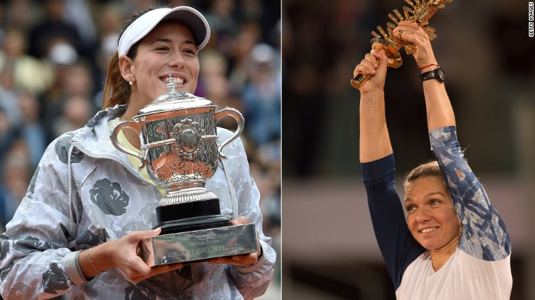 The Defender and Contender: Muguruza and Halep