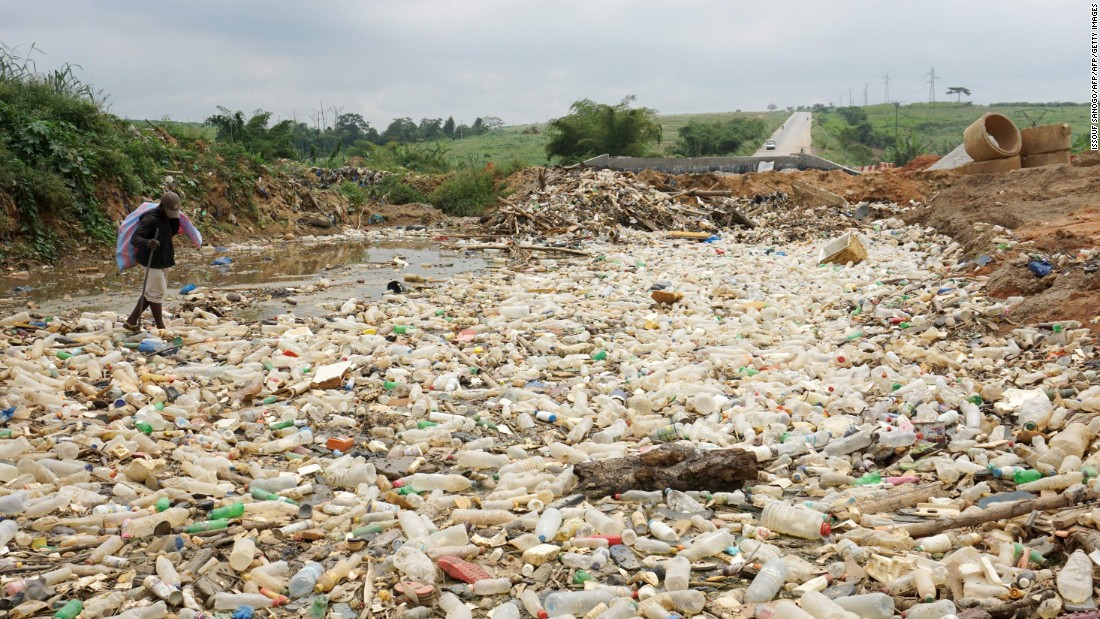 Pollution is also damaging marine environments, particularly in West Africa and the Ivory Coast (pictured).