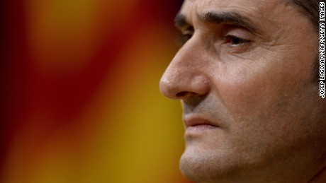 Athletic Bilbao's coach Ernesto Valverde gives a press conference on May 29, 2015 on the eve of the Spanish King's Cup final football match FC Barcelona vs Athletic Bilbao at the Camp Nou stadium in Barcelona. AFP PHOTO/ JOSEP LAGO        (Photo credit should read JOSEP LAGO/AFP/Getty Images)