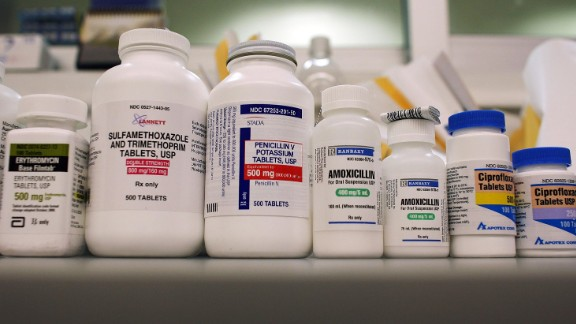 MIAMI - AUGUST 07: Bottles of antibiotics line a shelf at a Publix Supermarket pharmacy August 7, 2007 in Miami, Florida. Publix has decided to start giving away seven commonly prescribed antibiotics for free. The oral antibiotics will be available at no cost to any customers with a prescription as often as they need it.  Publix will offer 14-day supplies of the seven drugs at all of the company's pharmacies. The supermarket chain operates 684 pharmacies in five states.  (Photo by Joe Raedle/Getty Images)
