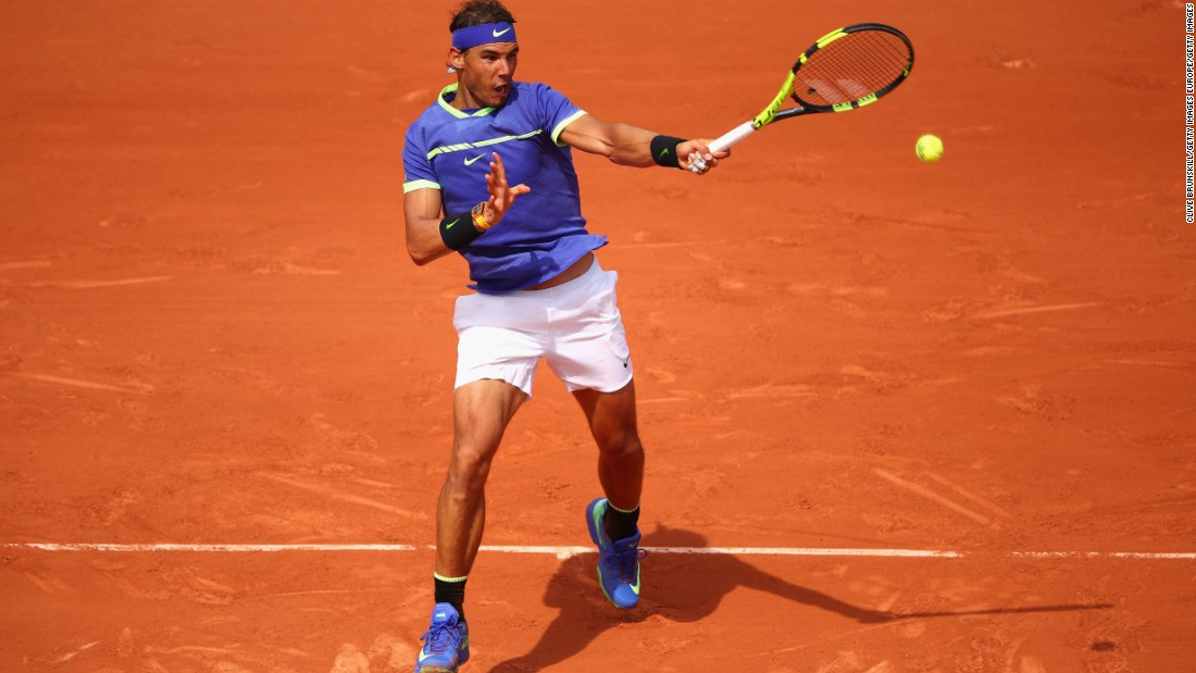 Nadal debuted his strong blue look against Benoit Paire in this year's first round on Monday. In true winning style, the King of Clay went on to complete 'La Decima.'