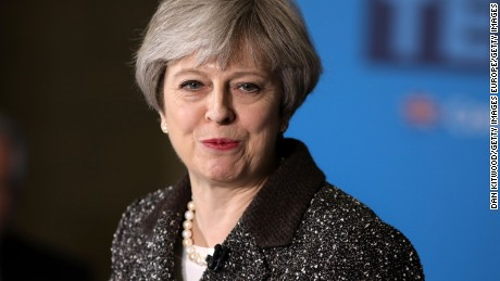 YORK, ENGLAND - MAY 09:  British Prime Minister, Theresa May delivers a speech to activists, journalists and business leaders at York Barbican while campaigning in Yorkshire on May 9, 2017 in York, England. Campaigning is underway ahead of the June 8th general election.  (Photo by Dan Kitwood/Getty Images)
