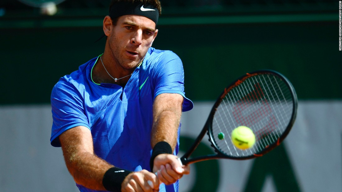 After years blighted by injury, Juan Martin del Potro beat fellow Argentine Guido Pella (6-2 6-1 6-4) in the former US Open champion's first match at Roland Garros since 2012.