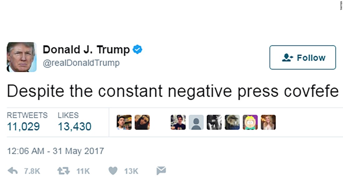 Image result for trump covfefe