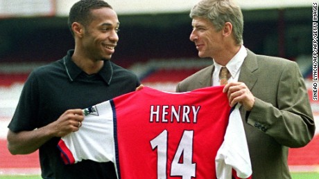August, 1999: Thierry Henry -- who went on to become Arsenal's record goalscorer -- signs for Arsenal